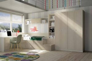 Juvenil Lacado Gamon. Dormitorio Juvenil  Tatami Lacado. Muebles Díaz