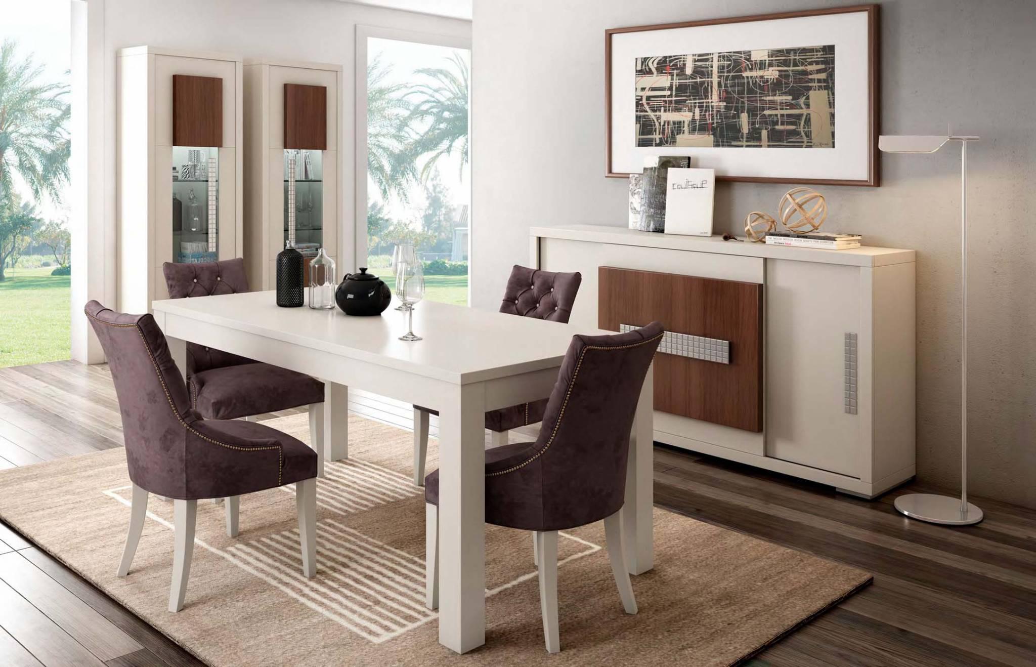 Conjunto mesas y sillas para comedor en muebles d az for Fabrica de mesas y sillas de comedor