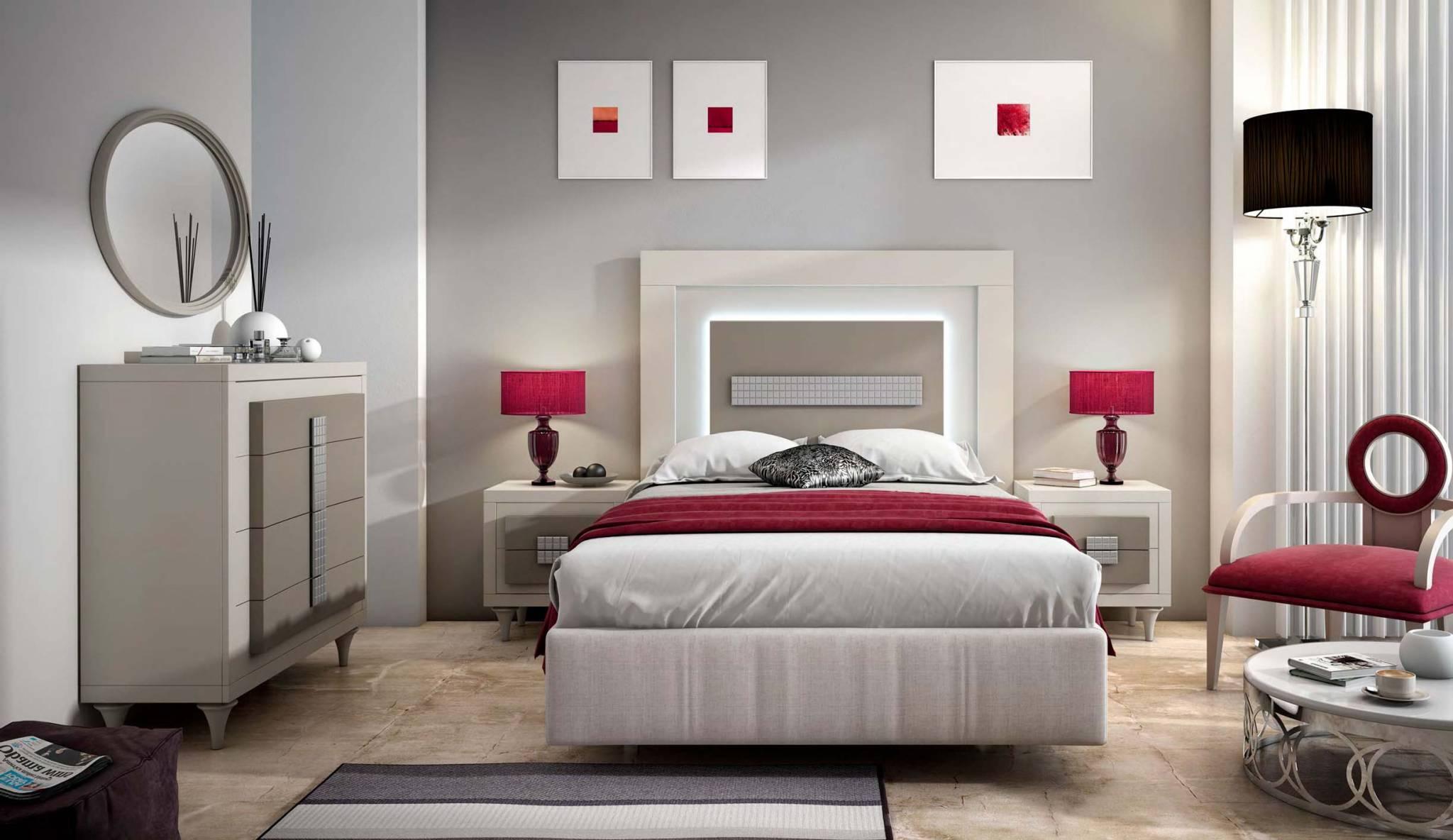 Dormitorio matrimonio carra muebles d azmuebles d az for Plafones pared dormitorio