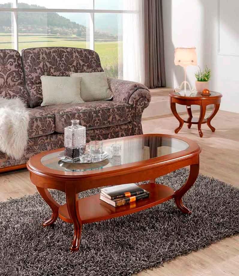 Mesa centro cl sica arga muebles d azmuebles d az - Mesas auxiliares clasicas ...