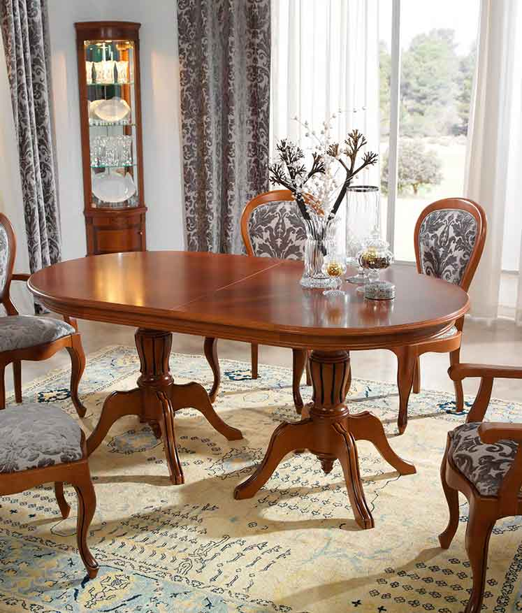 Mesa cl sica bele a muebles d azmuebles d az for Mesa comedor clasica