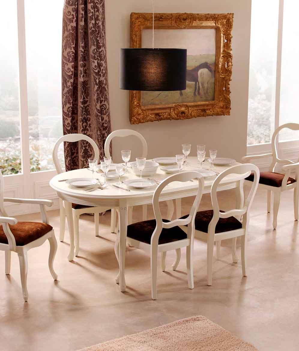 Mesa cl sica bejar muebles d azmuebles d az for Mesa comedor clasica
