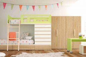 Dormitorio Juvenil Jupiter. Dormitorio Juvenil con Cama Tren. Muebles Díaz