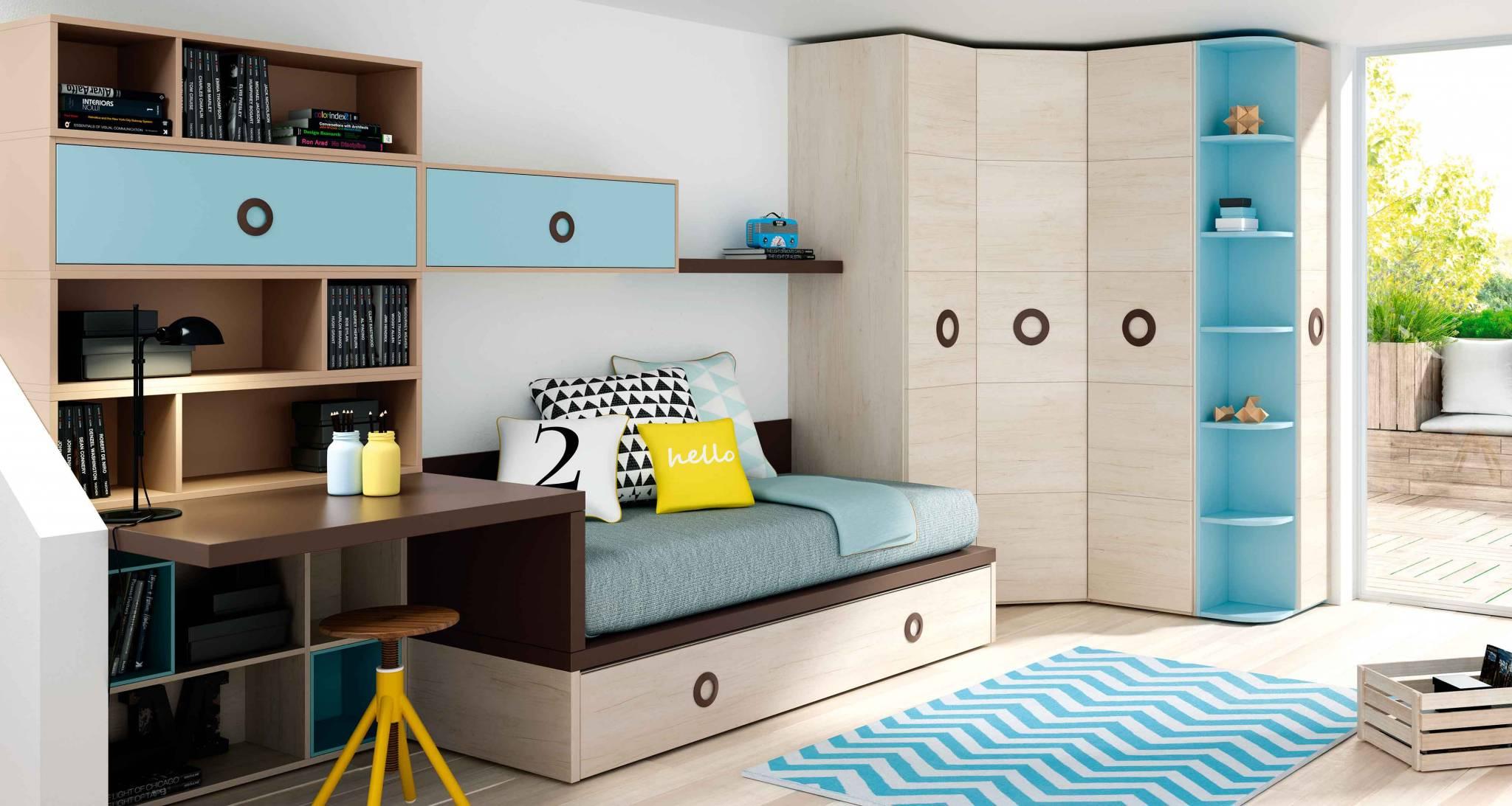 Dormitorio Juvenil Estrella. Dormitorio Moderno Juvenil  Muebles Díaz
