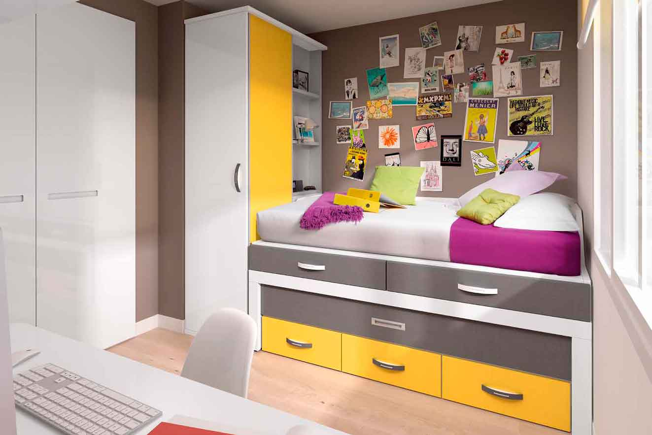 Dormitorio Juvenil Columba. Dormitorio Moderno Juvenil  Muebles Díaz