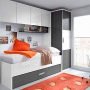 Dormitorio Juvenil Casiopea. Dormitorio Juvenil con Puente. Muebles Díaz