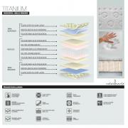 Colchón  Titanium Colchón Núcleo Muelles Ensacado y Viscolastica. Muebles Díaz