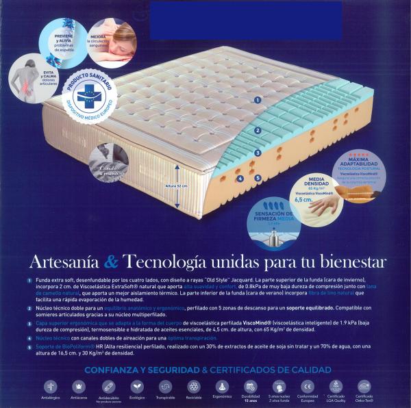 Colchón Oldfa Medical Colchón con Certificado de Dispositivo Médico Europeo. Muebles Díaz
