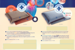 Almohada Memor Medical Almohada con Certificado de Dispositivo Médico Europeo. Muebles Díaz