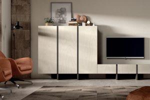 Apilable Moderno Libi. Salón Moderno con Módulos Elevados. Muebles Díaz