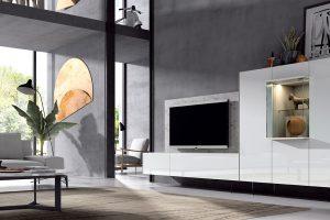 Apilable Moderno Yara. Salón Moderno con Patas Metálicas. Muebles Díaz