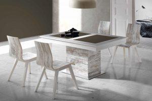 Conjunto Mesa y Sillas Kiero D Conjunto mesa base de acero y 4 sillas desde 990 euros. Muebles Díaz