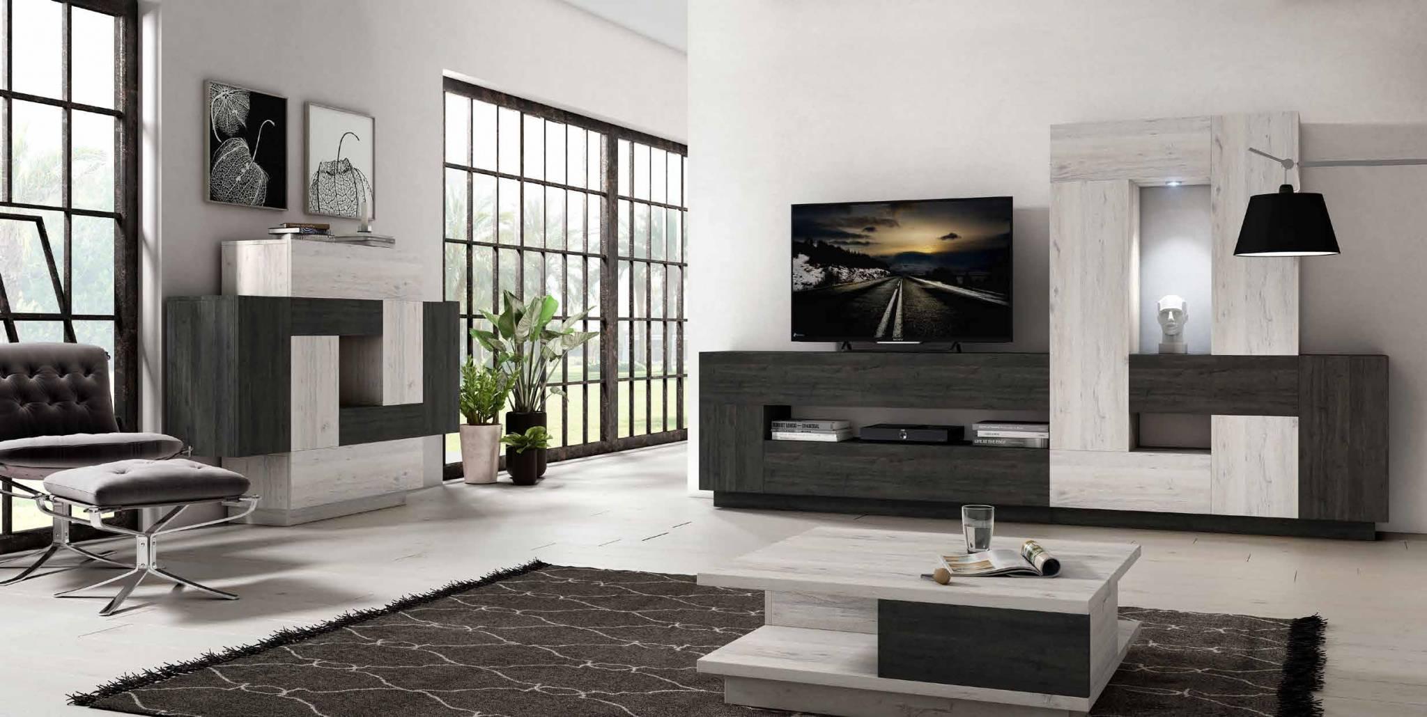 Sal n moderno tetris b muebles d azmuebles d az - Muebles para el salon modernos ...