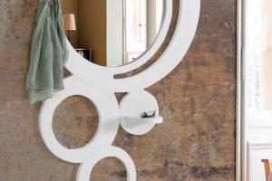 Espejo Recibidor Redon. Espejo Recibidor con Repisa. Muebles Díaz