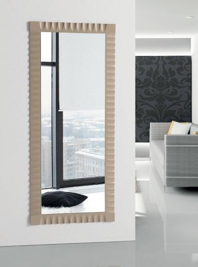 Espejo Moderno Rom. Espejo Moderno Lacado Marco en Relieve. Muebles Díaz