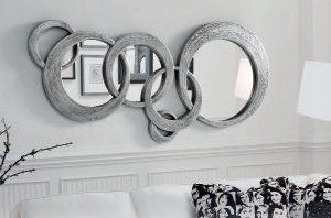 Espejo Moderno Brus A Espejo Circulos de Diseño. Muebles Díaz