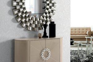 Espejo Diseño Doha. Espejo Marco Pan de Plata. Muebles Díaz
