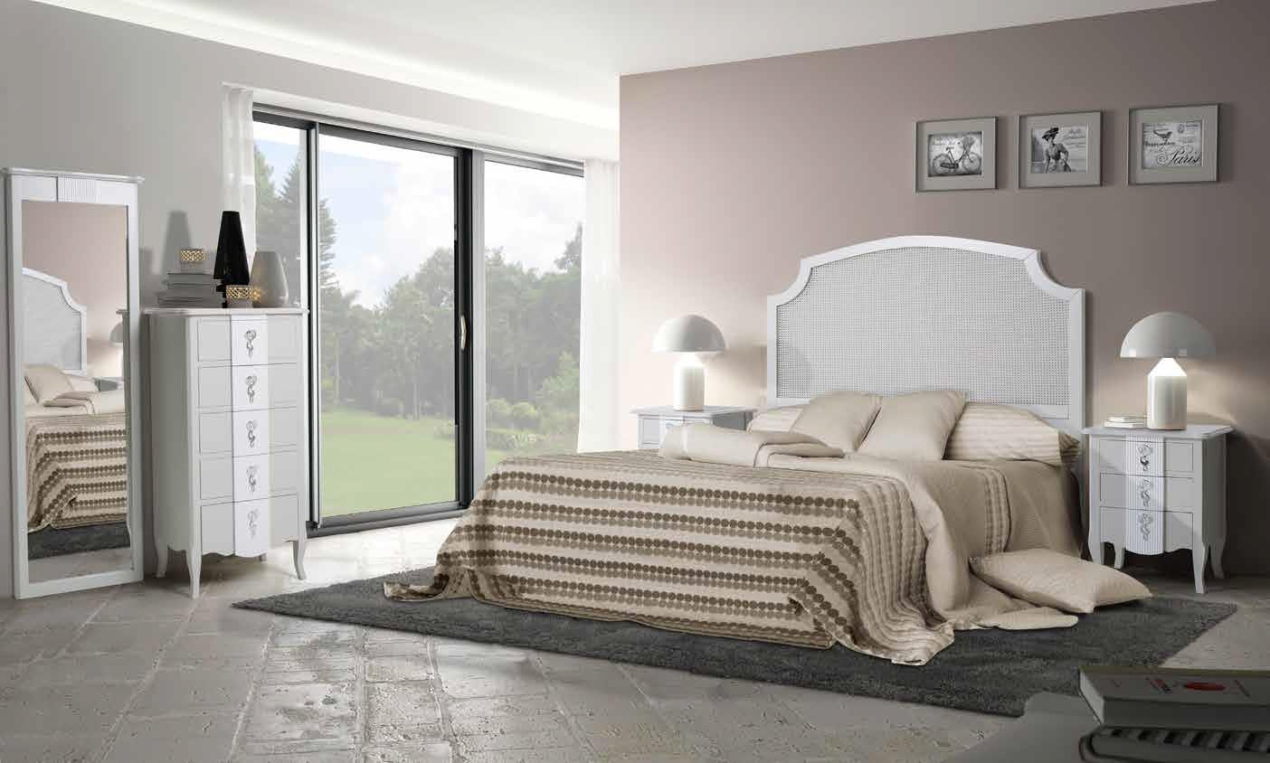 Dormitorio Clásico Favola A Dormitorio Vintage con Cabecero de Rejilla. Muebles Díaz