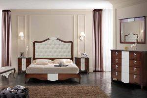 Dormitorio Clásico Favola B Dormitorio Clásico con Cama Tapizada y Bañera. Muebles Díaz