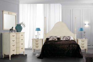 Dormitorio Vintage Elegan B Dormitorio Vintage con Cabecero tapizado. Muebles Díaz