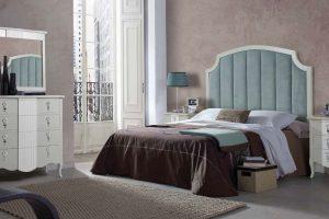 Dormitorio Clásico Favola C Dormitorio Vintage con Cabecero de Rejilla. Muebles Díaz