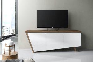 Mesa TV Modelo Aman. Mesa de TV  Moderna de Original Diseño Irregular. Muebles Díaz