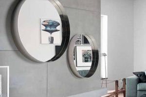 Espejo  Modelo Sensit 71 Espejo Redondo con el Marco de Metal. Muebles Díaz