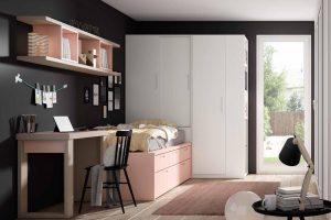 Dormitorio Juvenil Petsa B Dormitorio Juvenil con Cama Compacta y Armario Arcón Puertas Corredera. Muebles Díaz