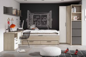 Dormitorio Juvenil Petsa D Dormitorio Juvenil con Armario Rincón Terminal Zapatero y Compacto Dos Colchones de la Misma Medida. Muebles Díaz