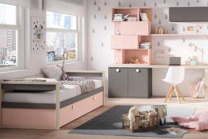 Dormitorio Juvenil Petsa K Dormitorio Juvenil con Cama Nido con Brazos y Original Estantería. Muebles Díaz