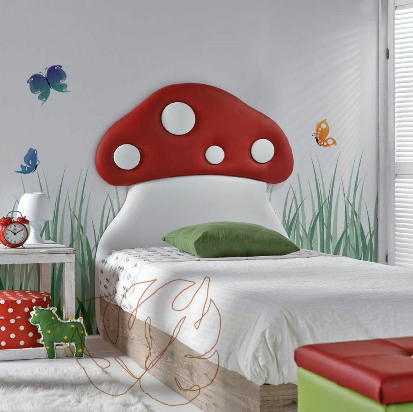 Cabecero Seta Mueble de dormitorio juvenil con diseño de seta.  Muebles Díaz